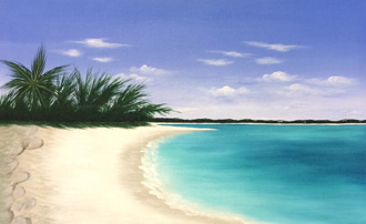 Grace Bay - 18 x 30 - Acrylic - $450.00