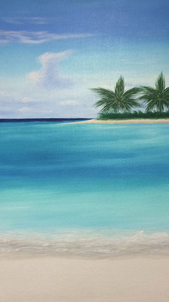 Palm Trees - 18 x 30 - Acrylic - $450.00