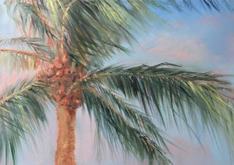 Tropical Breeze – 17.25 x 13.25 - Framed oil - $550.00