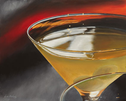 Liz Zahara Dirty Martini  30x24 - $1400 - acrylic
