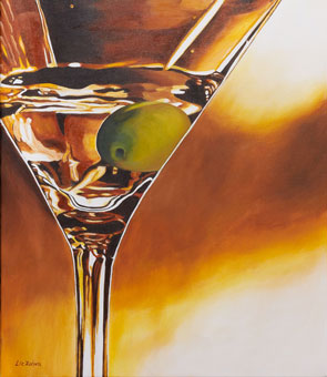 Liz Zahara Happy Hour Martini 24x30 - $1200 - acrylic